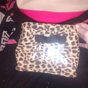 Vs pink leopard print small bin